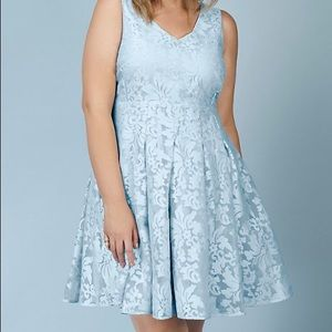 Rebel Wilson Torrid brocade dress